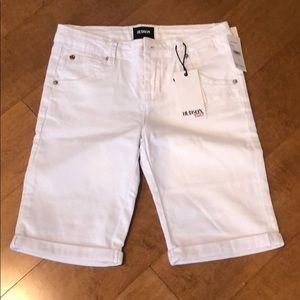 Hudson kids roll cuff Bermuda shorts size 16 new